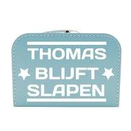 953cdf2ed0345e Logeerkoffertje Babyblauw Met Naam | Kraam en Geboorte Kado's ...
